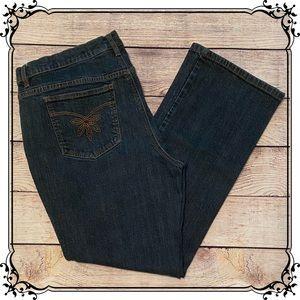 Liz & Co. Dark Wash Boot Cut Stretch Jeans